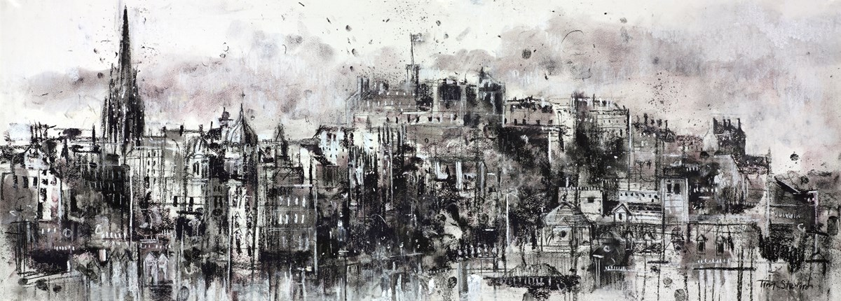 View from Calton Hill, Edinburgh  by tim steward -  sized 43x16 inches. Available from Whitewall Galleries